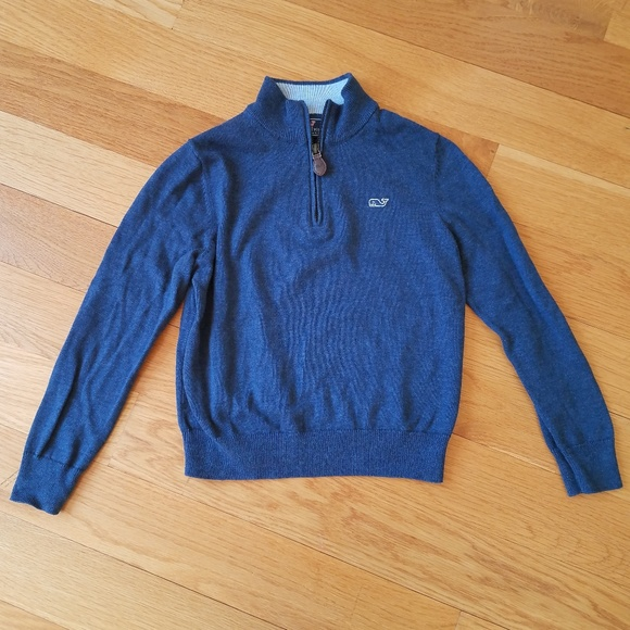 Vineyard Vines Other - Vineyard Vines Boys Classic Zip Mock Neck Sweater